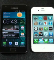 confronto galaxy s2 iphone 4s