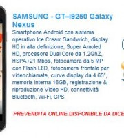 galaxy-nexus-euronics prezzo