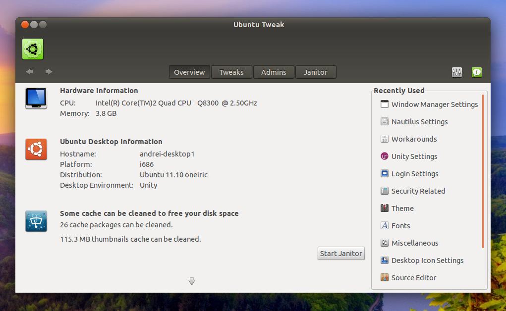 ubuntu tweak 0.7 aggiornamento