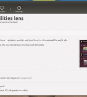 ubuntu utilities unity lens