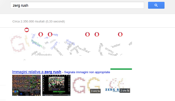 easter egg google zerg rush