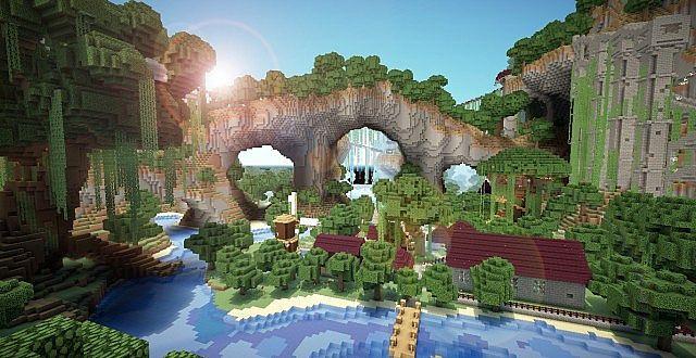 Case Di Montagna Minecraft : Download mappe per minecraft regno abbandonato e castello gigante